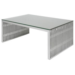 Amici Brushed Silver Coffee Table