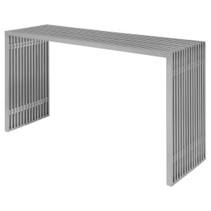 Amici Brushed Silver Console Table