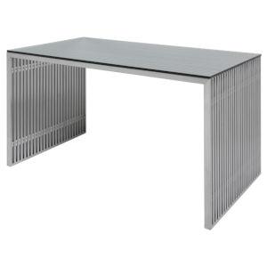 Amici Brushed Silver Desk
