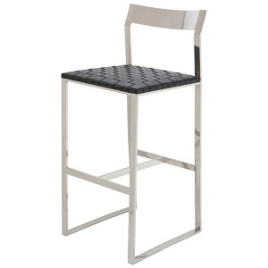 Camille Black and Silver Bar Stool