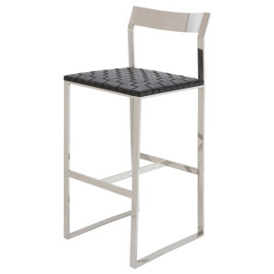 Camille Black and Silver Counter Stool