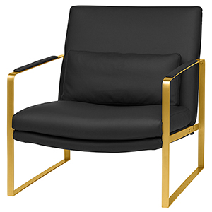 Leonardo Matte Black Occasional Chair