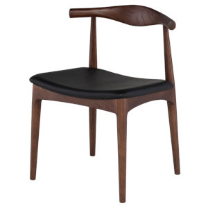 Saal Matte Black and Walnut Dining Chair