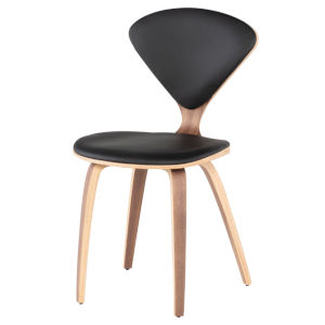 Satine Matte Black and Natural Dining Chair