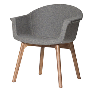 Vitale Matte Grey Dining Chair