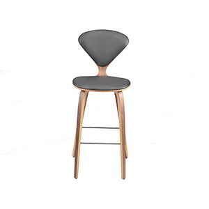 Satine Matte Grey and Wood Counter Stool