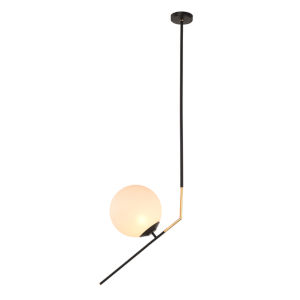 Declan White and Black One-Light Pendant