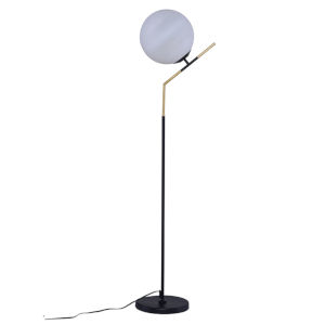 Declan White and Black One-Light Floor Lamp