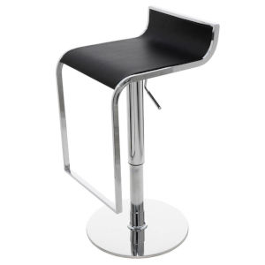 Alexander Black and Silver Adjustable Stool