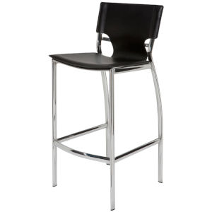 Lisbon Matte Black Counter Stool