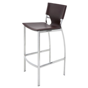 Lisbon Brown and Silver Counter Stool