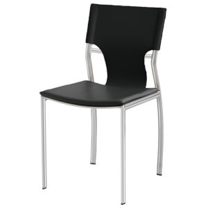 Lisbon Black and Silver Dining Chair