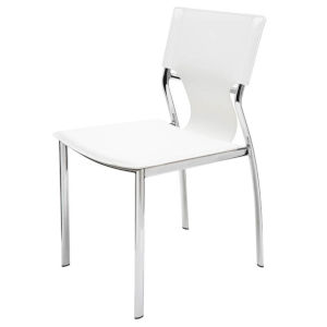 Lisbon Matte White Dining Chair