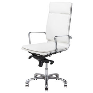 Carlo White and Silver Office Chair