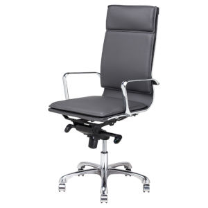 Carlo Gray and Silver Office Chair