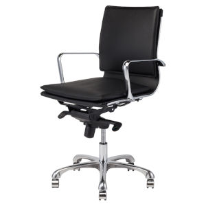 Carlo Black and Silver Office Chair