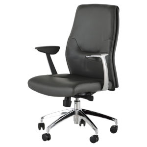 Klause Gray and Silver Office Chair