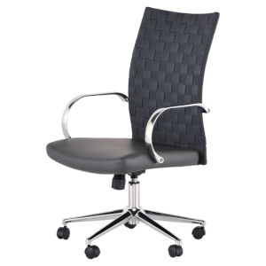 Mia Matte Gray and Silver Office Chair