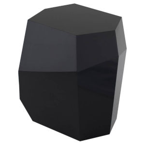 Gio Laquered Black Side Table