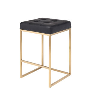 Chi Matte Black and Gold Counter Stool