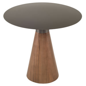 Iris Graphite and Walnut Side Table