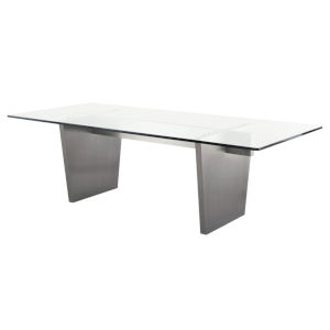 Aiden Clear and Graphite Dining Table
