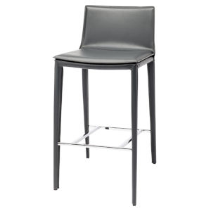 Palma Dark Gray and Silver Bar Stool