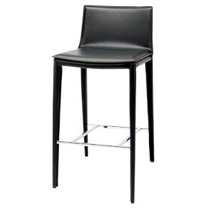 Palma Matte Black Bar Stool