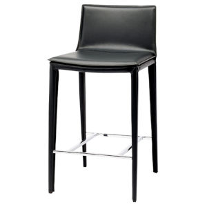 Palma Matte Black Counter Stool