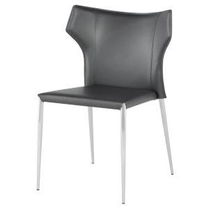 Wayne Dark Gray and Silver Dining Chair