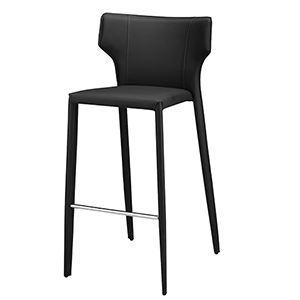 Wayne Matte Black 38-Inch Counter Stool