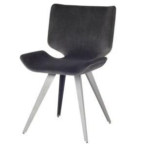 Astra Black and Gray Dining Chair