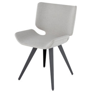 Astra Stone Gray and Black Dining Chair