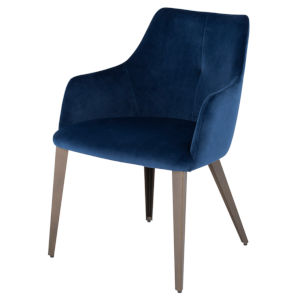Renee Navy and Walnut Dining Chair