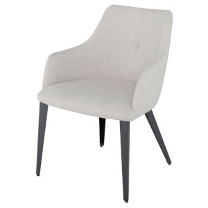 Renee Stone Gray and Black Dining Chair