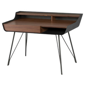 Noori Walnut and Black Desk