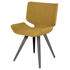 Astra Yellow and Brown Dining Chair
