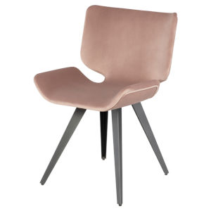 Astra Blush and Black Dining Chair