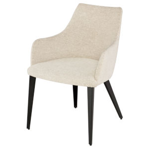 Renee Beige and Black Dining Chair