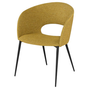 Alotti Yellow and Black Dining Chair