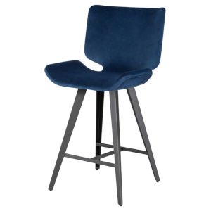Astra Navy and Walnut Counter Stool