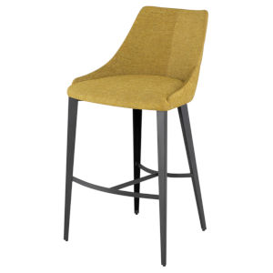 Renee Yellow and Brown Bar Stool