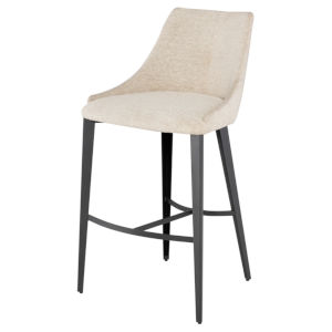 Renee Beige and Black Bar Stool