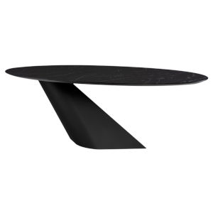 Oblo Black Oval Dining Table