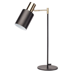 Lucca Matte Black One-Light Table Lamp