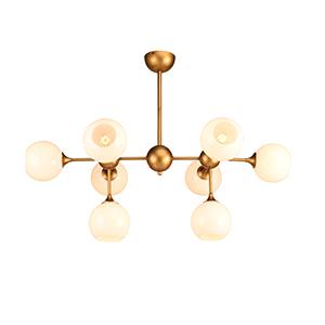 Niklas Brass Eight-Light Pendant