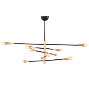 Orion 5 Matte Black 10-Light Pendant