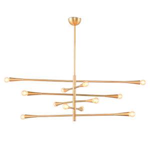 Dahlia Brushed Gold 12-Light Pendant