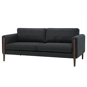 Steen Matte Steel Grey Triple Seat Sofa