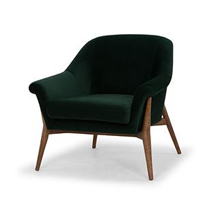 Charlize Matte Emerald Green Chair